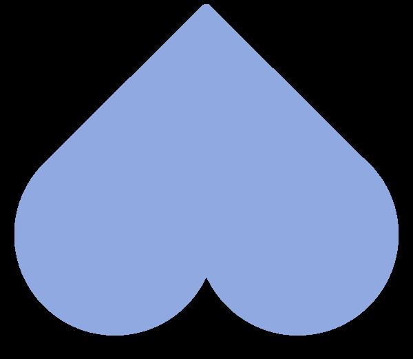 blue heart flipped