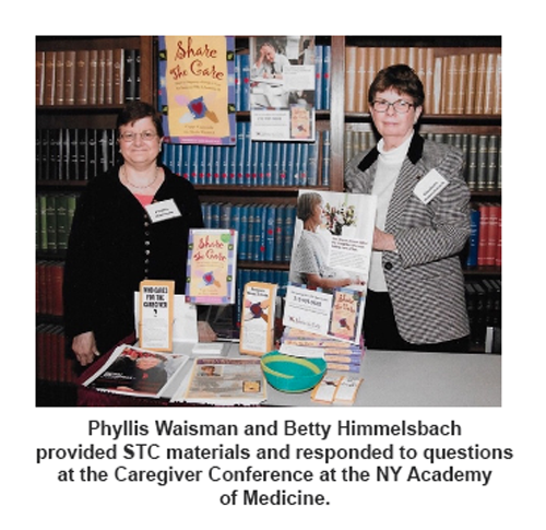 Phyllis Waisman and Betty Himmelsbach at the STC Table at a Conference NY Academy of Medicine.